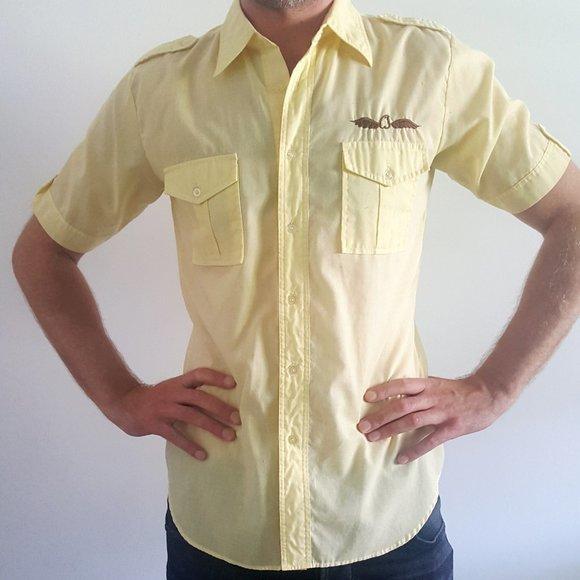 1970's Cowboy-Style Short Sleeve Shirt